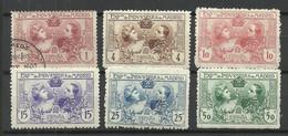 SPAIN Spanien Espana 1907 Michel A I A - A I F */o - Neufs