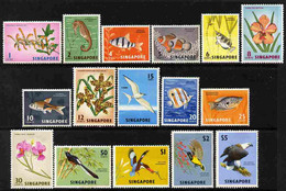 Singapore 1962-66 Pictorial Definitive Set Complete 16 Values, Several Are U/m But Others Have Some Gum Disturbance SG 6 - Unclassified