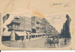 Allemagne Bade Wurtemberg Karlsruhe Kaiserstrasse - Carte Gauffrée Illustrée époque 1900 - Karlsruhe