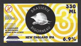 Etiquette De Bière New England IPA  -   Brasserie Bigorneau  à  Montigné Sur Moine  (49) - Beer
