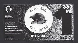 Etiquette De Bière Rye Stout Magnul  -   Brasserie Bigorneau  à  Montigné Sur Moine  (49) - Beer
