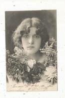 Cp , Femme , Fleurs , FLEURS D'HIVER ,phototypie A. Bergeret , Dos Simple , Voyagée 1904 - Women