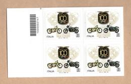 ITALIA    Cent. Della  MOTO  GUZZI - C/B 2147  In Quartina MNH**  Del  11.09.2021 - Códigos De Barras