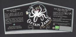 Etiquette De Bière Blanche  -  Brasserie  Captain James Et Ses Mousses  à  Gratot (50) - Beer