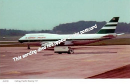 Cathay Pacific Boeing 747 At Manchester Airport - 1946-....: Era Moderna