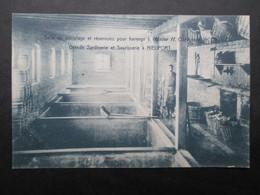 CP BELGIQUE (M2115) NIEUPORT Usine H. Carbonez & Cie (2 Vues) Grande Sardinerie Et Saurisserie - Salle De Dessalage - Nieuwpoort