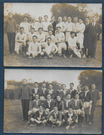 2 Cartes Photo Equipes De Rugby - Rugby