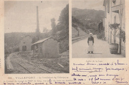 48 VILLEFORT Le Ventilateur De L'abespeire  Vu Du Train - Villefort