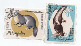 MONGOLIA»5 & 15 MONGOLIAN MÖNGÖ»1966»ANIMALS (FAUNA)/MAMMALS»USED - Mongolia