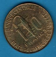 ETATS DE L'AFRIQUE DE L'OUEST 10 FRANCS 1986 KM# 10 FAO - Other - Africa