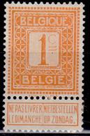 Belgium, 1912 , National Arms, Numeral, 1c, MH-no Gum - 1912 Pellens
