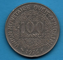 ETATS DE L'AFRIQUE DE L'OUEST 100 FRANCS 1976 KM# 4 - Other - Africa