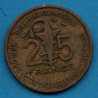 AFRIQUE OCCIDENTALE FRANCAISE TOGO 25 FRANCS 1957 KM# 9 GAZELLE - Colonies