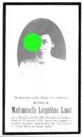 Décès De Léopoldine LIMET /  NY 1886 - RENDEUX 1917 - Obituary Notices