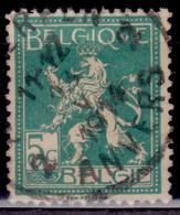 Belgium, 1912 , National Arms, 5c, Used - 1912 Pellens