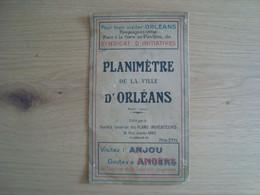 PLANIMETRE DE LA VILLE D'ORLEANS - Mapas Geográficas