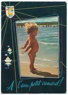 612PP - Humour - A L'eau Petit Canard - Animée - Circulée 1972 -Scan Recto-Verso - Humor