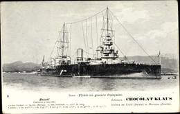 CPA Französisches Kriegsschiff, Bouvet Cuirassé à Tourelles, Chocolat Klaus - Non Classificati