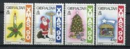 Gibraltar 1990. Yvert 615-18 ** MNH. - Gibraltar