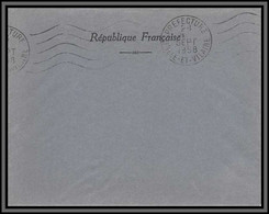 10842 Enveloppe Franchise Ille Et Vilaine 1958 Prefecture Lettre Cover France - 1921-1960: Modern Period