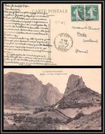 11101 N°159 Semeuse Paire Saou Drome Pour Merfy Marne Carte Postale Le Vieux Village Et Le Roc France - 1921-1960: Modern Period