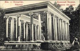 CPA Peterhof Russland, Fontaine Des Lions - Rusia