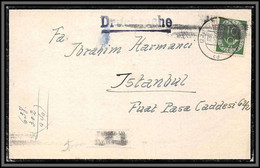 11644 N°14 Pour Istanbul Turquie 1952 Lettre Cover Allemagne Bund Germany - Lettres & Documents