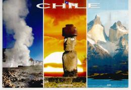 Moai, La Statue De L'île De Pâques - Geysers Del Tatio (Altiplano) Torres Del Paine National Park,sent To Andorra - Rapa Nui