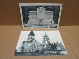 BOURGOGNE (51) 2 Cartes Postales Monument Aux Morts Et église - Otros Municipios
