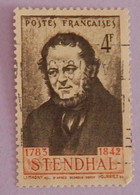 "FRANCE YT 550 OBLITÉRÉ ""STENDHAL"" ANNÉE 1942 - Gebraucht"