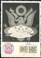 Belgium Card Overprint Stamp WWII Bastogne Belgien Cu50 - Erinnophilie