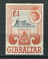 263 GIBRALTAR 1960/66 - Yvert 158 - Insigne Rocher Elizabeth II - Neuf **(MNH) Sans Trace De Charniere - Gibraltar