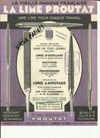21 - Cote D'Or - Arnay Le Duc - Publicité Des Ets. Proutat - Manufacture De Limes - Réf.63. - 1900 – 1949