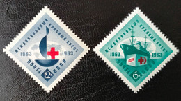 RUSSIA  MNH (**)1963 The 100th Anniversary Of Red Cross   Mi 2787-2788 - Unused Stamps