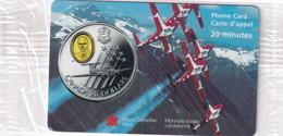 CANADA - $20 Silver Cameo Coin, The Snowbirds, AT&T Canada Prepaid Card 20 Min, Exp.date 31/12/98, Mint - Francobolli & Monete