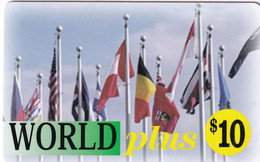 USA - Flags, World Plus Prepaid Card $10, Used - Unclassified