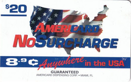 USA - NoSurcharge, AmeriCard By Radiant Prepaid Card $20, Used - Unclassified