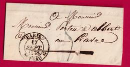 CAD TYPE 13 PARIS BUREAU G 1838 POUR LE HAVRE - 1801-1848: Precursors XIX