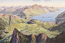 Cartolina - Carta Geografica - Lago Di Garda - Riva - 1925 Ca. - Unclassified