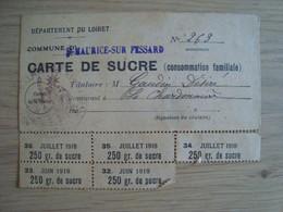 CARTE DE SUCRE DEPARTEMENT DU LOIRET SAINT-MAURICE-SUR-FESSARD - Documenten