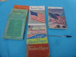 Lot De Reader's Digest EN ANGLAIS 1937-1938-1941-1942-1943-1944 - Cultura
