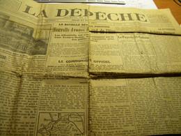 Journal La Dépêche 27 Mars 1917. Internés Suisses, Bombardement Usine De Thionville - Ohne Zuordnung