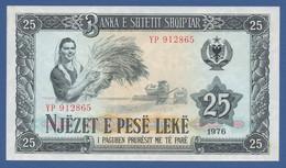 ALBANIA - P.44 –  25 LEKE 1976  UNC - Serie YP 912865 - Albania