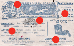 ROOSE Antwerpen Anvers Kleefbanden Fabriek  Produit Ready Vers 1950 - Other