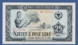 ALBANIA - P.37 –  25 LEKE 1964  UNC - Serie BP 152126 - Albania