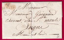 MARQUE 47 SUETTE MAINE ET LOIRE 27X11 INDICE 14 POUR ANGERS - 1801-1848: Precursors XIX