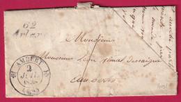 CURSIVE 62 ARLANC PUY DE DOME CAD TYPE 12 AMBERT TAXE LOCALE 1 - 1801-1848: Precursors XIX