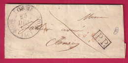 CAD TYPE 11 LORME NIEVRE + PP NOIR 1831 POUR CLAMECY - 1801-1848: Precursors XIX