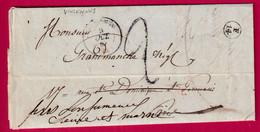 CAD TYPE 15 VINCENNES + CACHET DE FACTEUR F14 SUR DEVANT 1847 SEINE ET MARNE LONGJUMEAU CAD ROUGE PARIS 17 DEUXIEME - 1801-1848: Precursors XIX