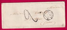 CAD TYPE 15 PARIS L 60 L BUREAU L POUR ST FLOUR CANTAL - 1801-1848: Precursors XIX
